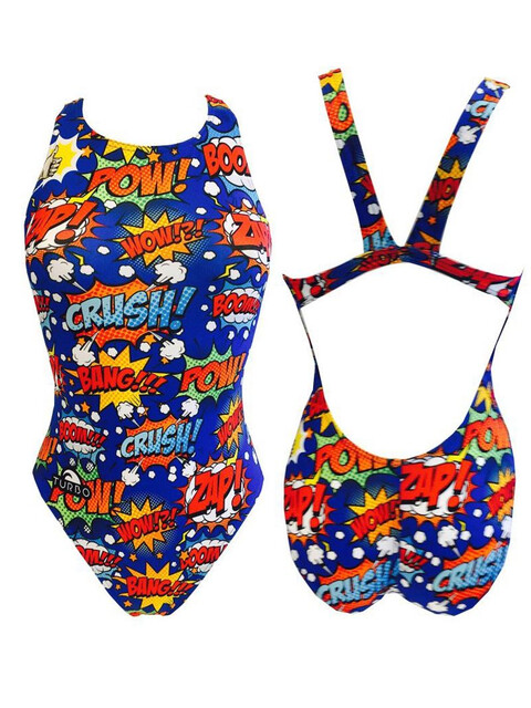 Turbo Boom!!! Swimsuit Women Royal